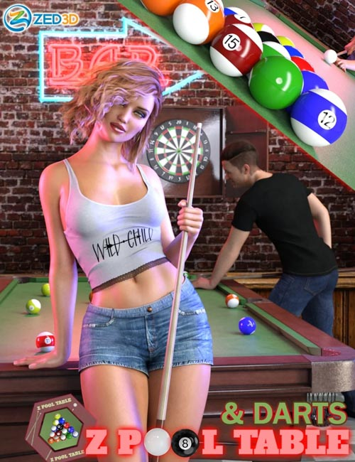 Z Pool Table and Darts for Genesis 8