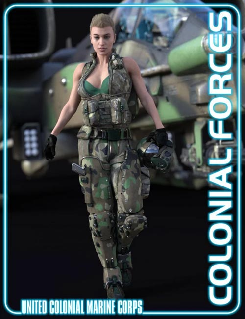 Colonial Forces Add-on for Tactical Assault Outfit for Genesis 8 Female(s)
