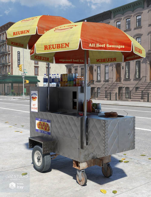 New York Hot Dog Cart