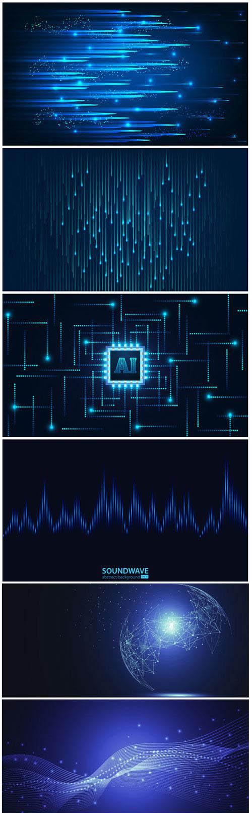 Motion waves design for business website, poster, flyer, presentation