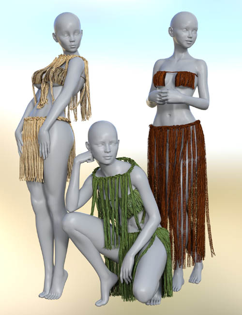 dForce Grass Cord Outfits for Genesis 8 Female