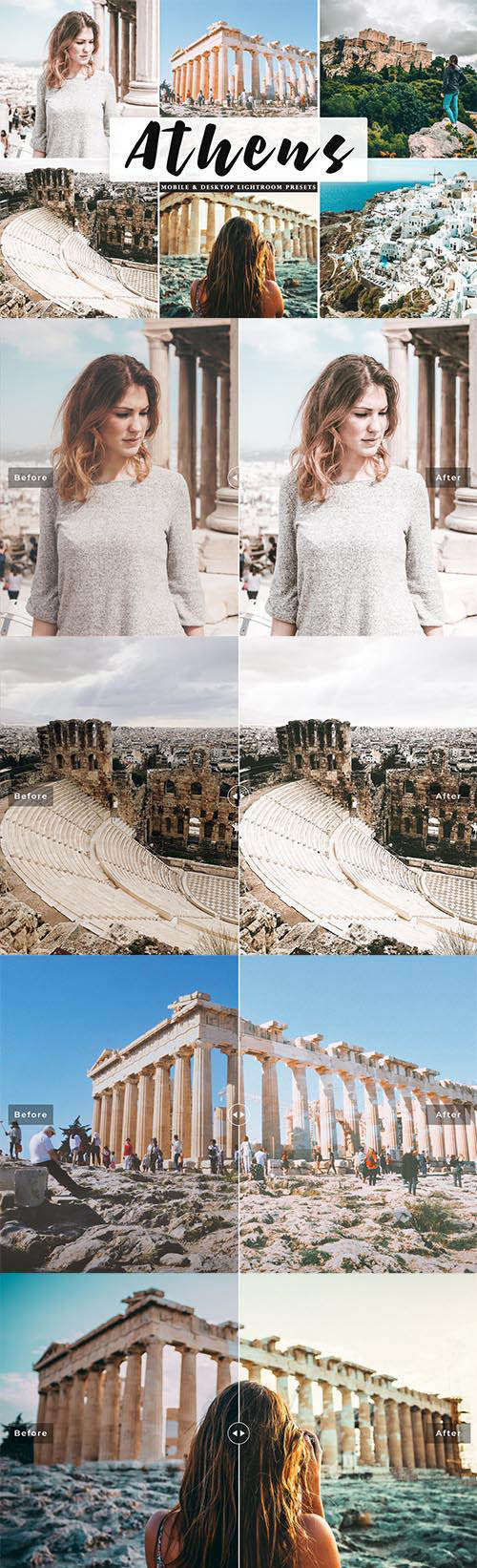 Athens Mobile & Desktop Lightroom Presets