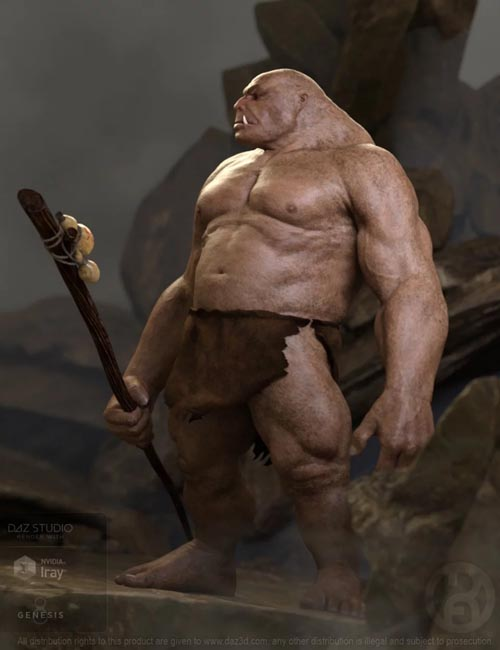 The Big Beast Ogre for Genesis 8 Male