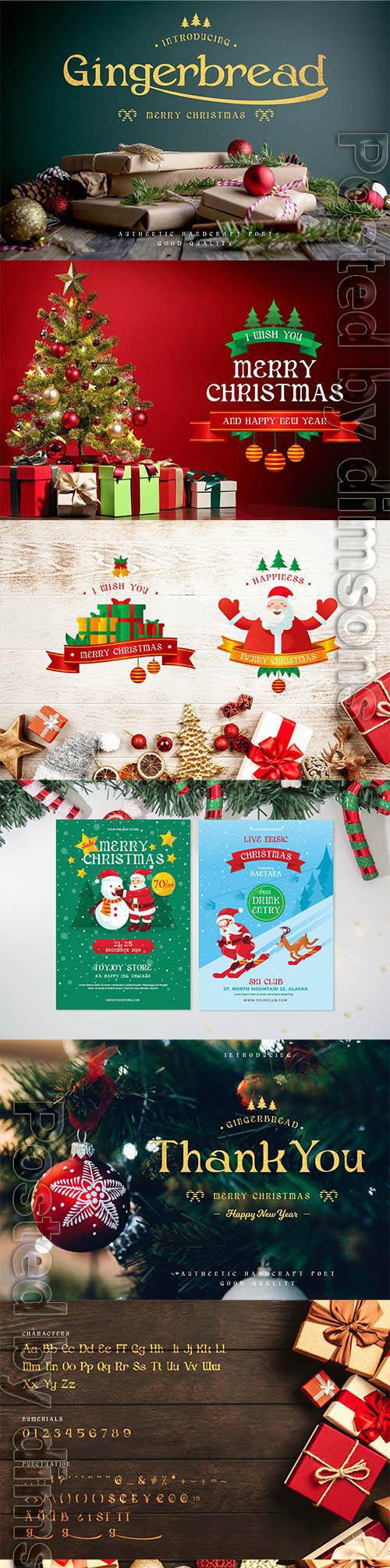 Gingerbread - Decorative Christmas Serif Font