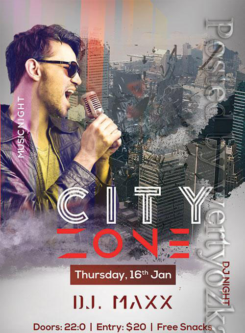 City Zone - Premium flyer psd template
