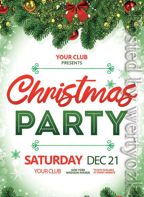 Christmas Party Event - Premium flyer psd template