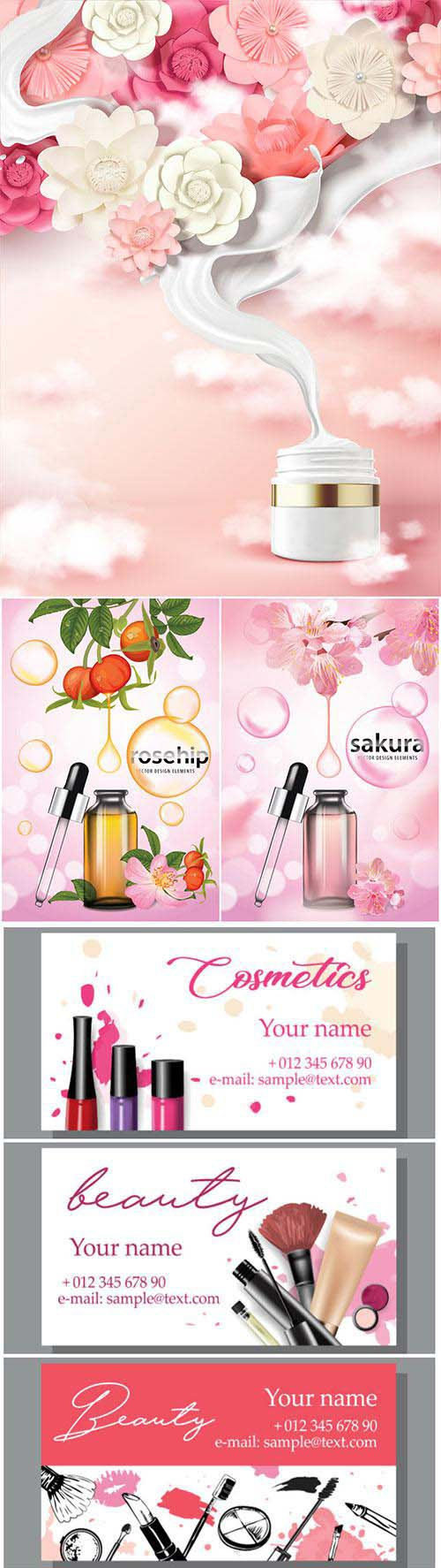 Vector posters advertising cosmetics # 3
