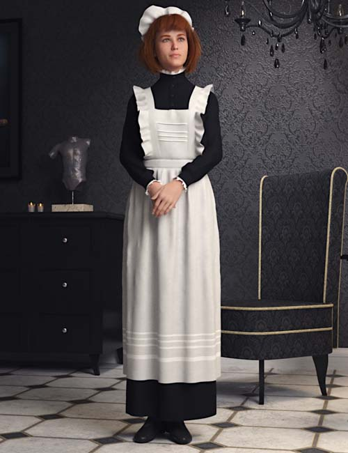 dForce Edwardian Maid Uniform for Genesis 8 Female(s)