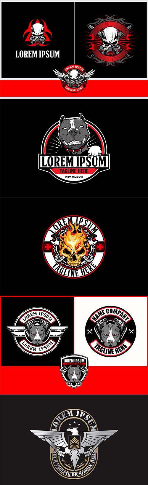 Vector badge logo template # 5