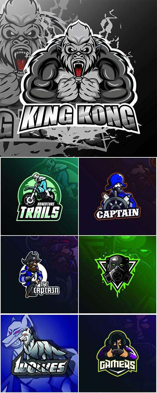 Mascot logo design vector with modern illustration concept