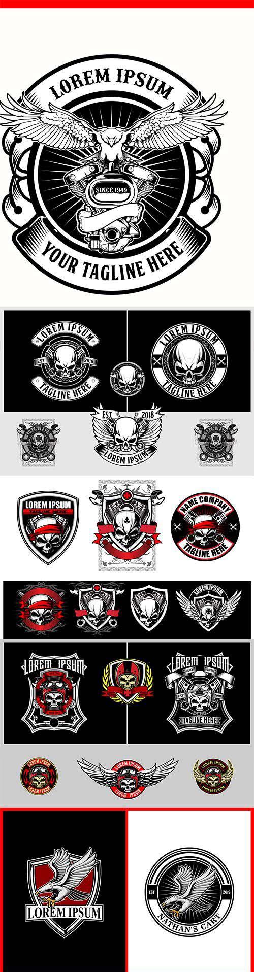 Vector badge logo template