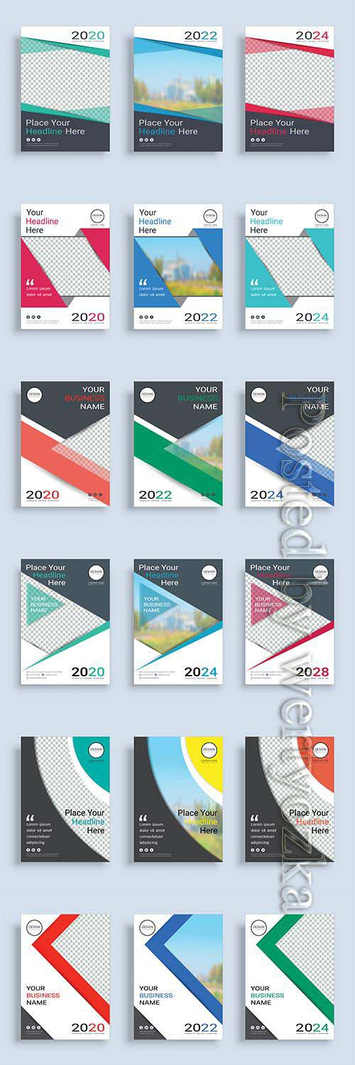 Business abstract vector brochure, annual report, magazine # 7