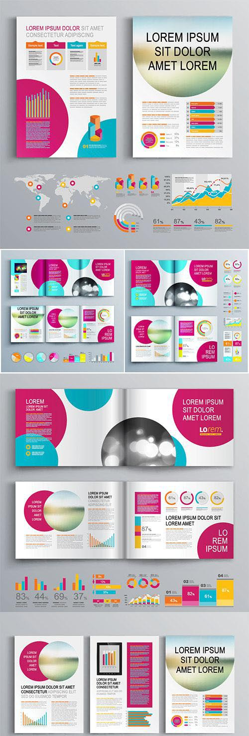 Brochure template vector design