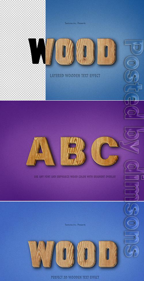 3D Wooden Text Effect 307720764 PSDT