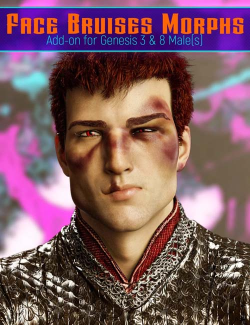 Face Bruises Morphs for Genesis 3 and 8 Male(s)