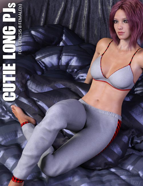 dForce Cutie Long PJs for Genesis 8 Females