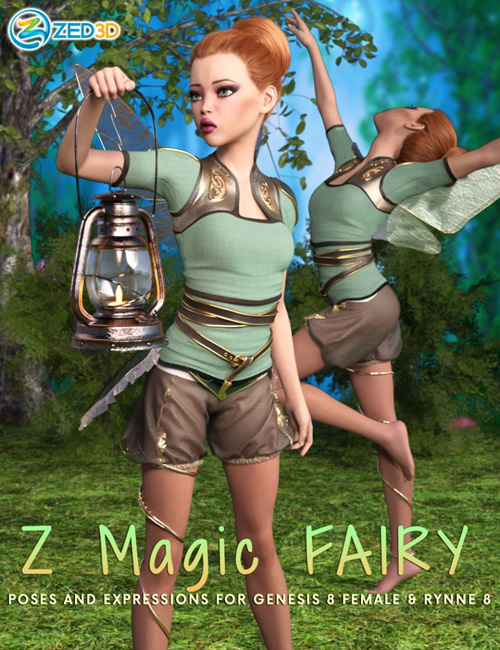 Z Magic Fairy Poses and Expressions for Rynne 8