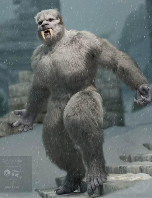 Snow Beast with dForce Hair for Genesis 8 Male