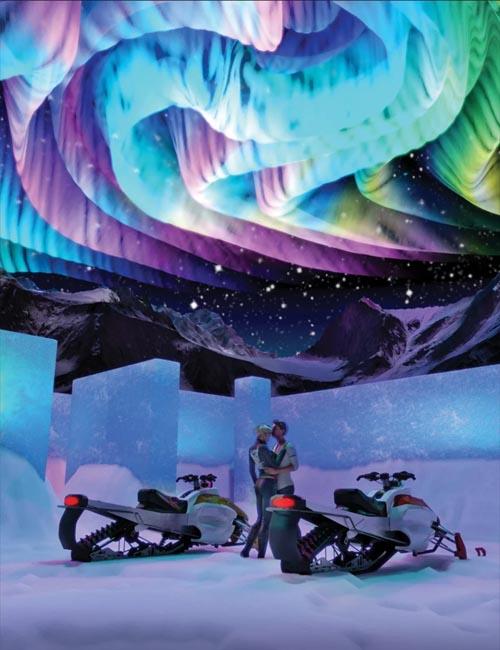 Aurora Borealis Prop and Lights