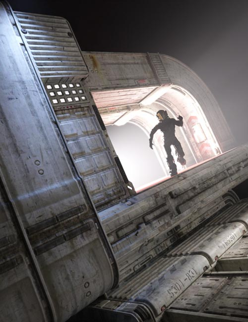 Sci-Fi Landing Platform