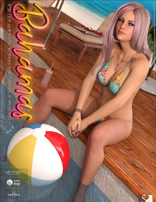 Bahamas for Vision Bikini for Genesis 8 Female(s)