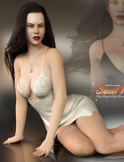 Sweet Night Lingerie Set for Genesis 8 Females