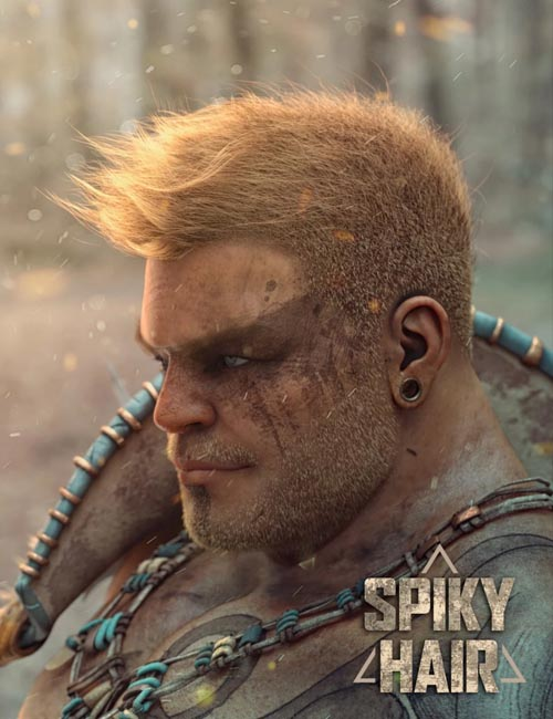 Spiky Hair for Genesis 3 and 8