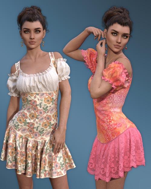 dForce - Rosy Dress for G8F