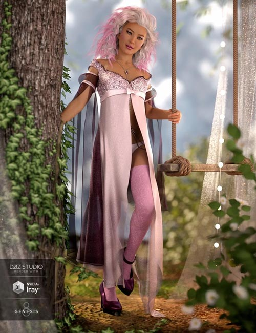 dForce Nightingale Outfit for Genesis 8 Female(s)