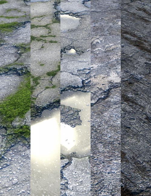 v176 Old Concrete Iray Textures