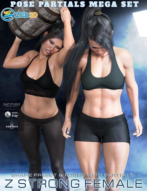Z Strong Female Shape and Poses Mega Set