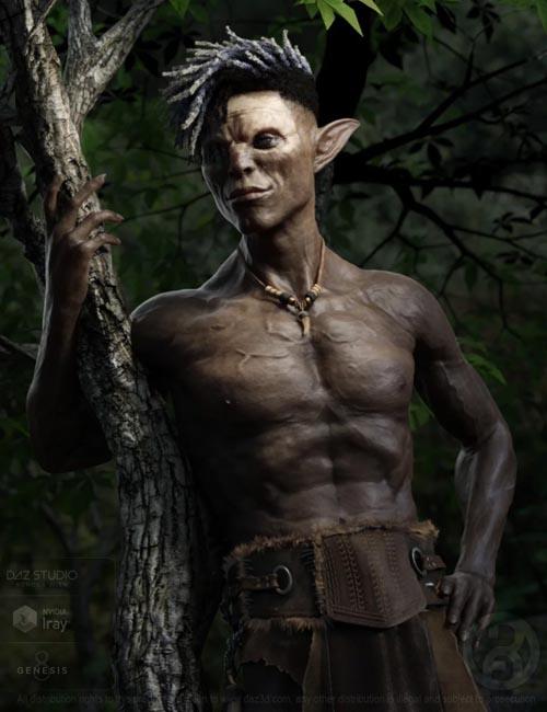 Dokkalfar the Dark Elf for Genesis 8 Male