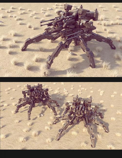 Sci-Fi MS Spider Mecha