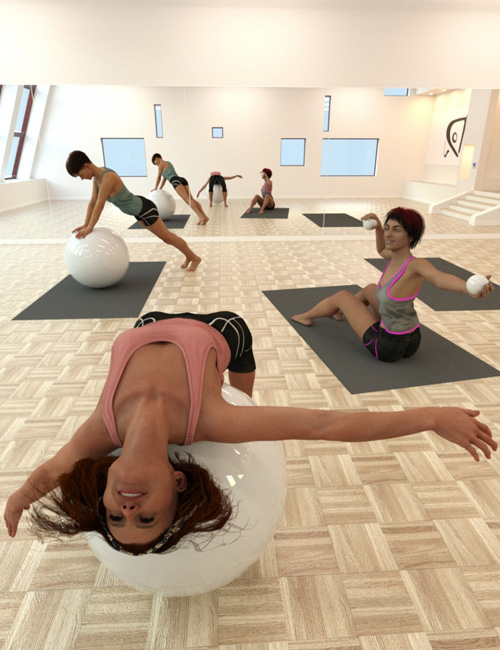 Pilates Poses with Ball for Genesis 8 Female(s)