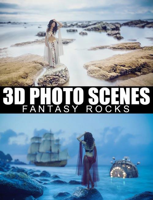 3D Photo Scenes - Fantasy Rocks