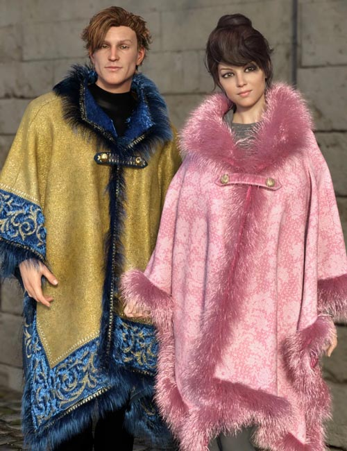 dForce Real Fur Poncho Texture Expansion
