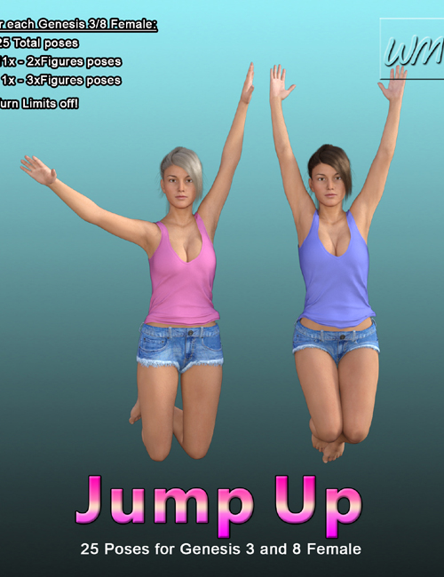 WMs Jump Up - Poses for Genesis 3 and 8 Female