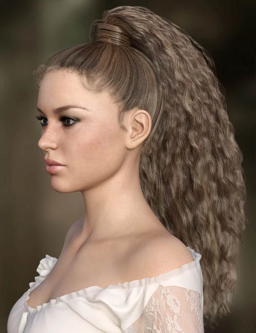 MRL Curly Ponytail for Genesis 8 Female with Color Mixing