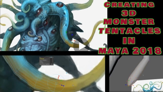 Udemy – Creating 3D Monster Tentacles in Maya 2018