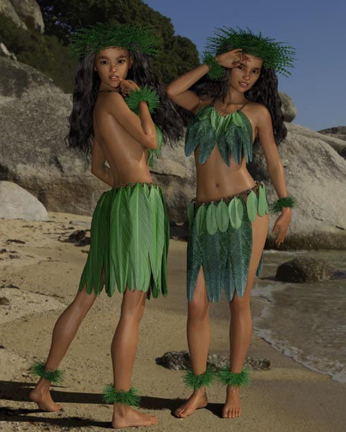 dForce Tropical Leaf Outfit for Genesis 8 Female