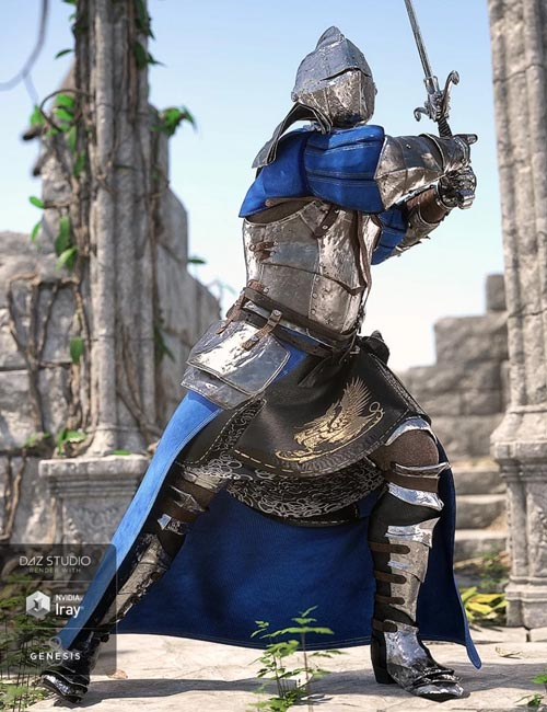 dForce The Bellowtalons Knight Outfit for Genesis 8 Male(s)