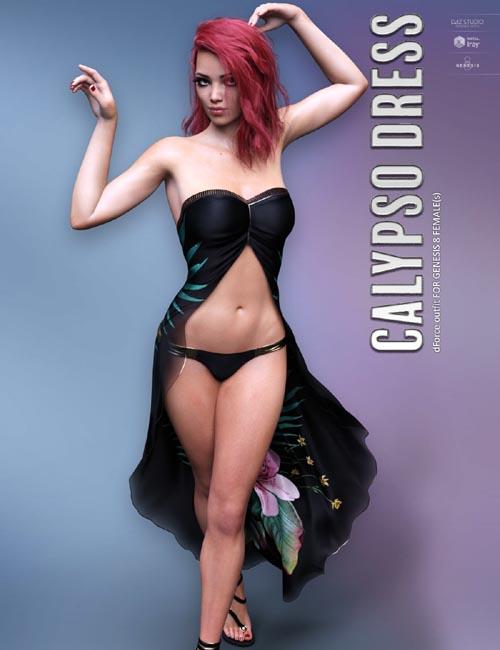 dForce Calypso Dress for Genesis 8 Females