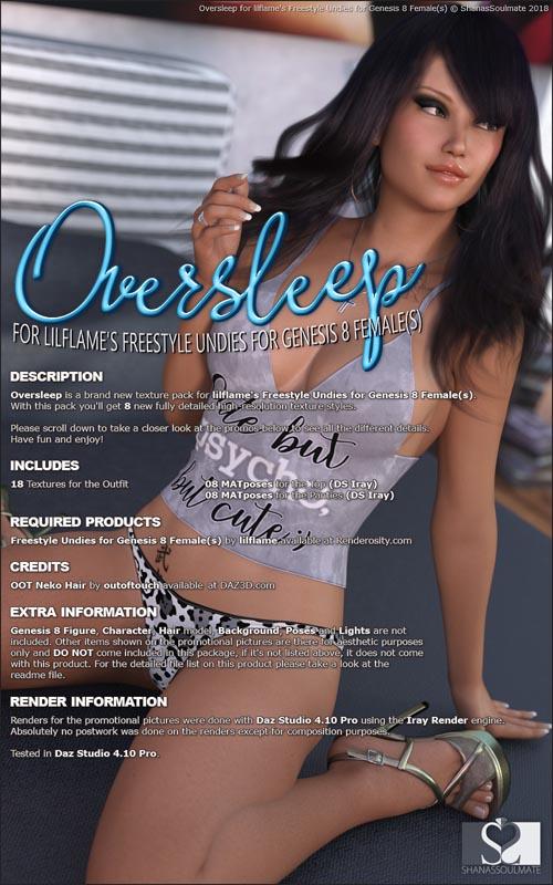 Oversleep for dForce Freestyle Undies for Genesis 8 Females