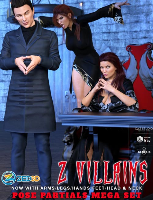 Z Villains Pose Mega Set