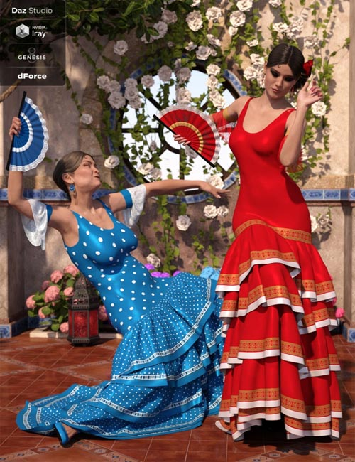 dForce Flamenco Dancer Outfit Textures