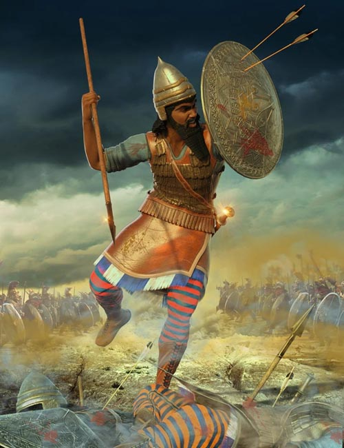 Assyrian Warrior Outfit for Genesis 8 Male(s