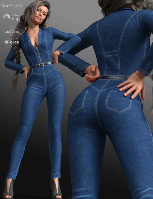 dForce Mod Jumpsuit Outfit for Genesis 8 Female(s)