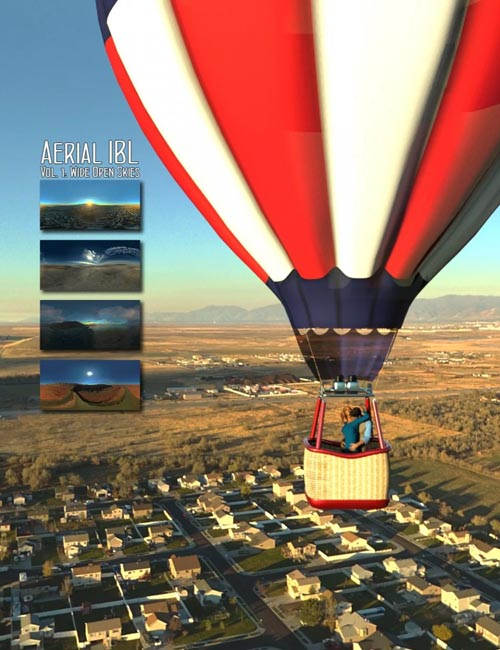Aerial IBL Wide Open Skies HDRI