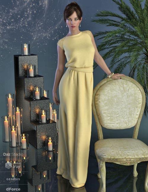 dForce Angelica Gown for Genesis 8 Female(s)
