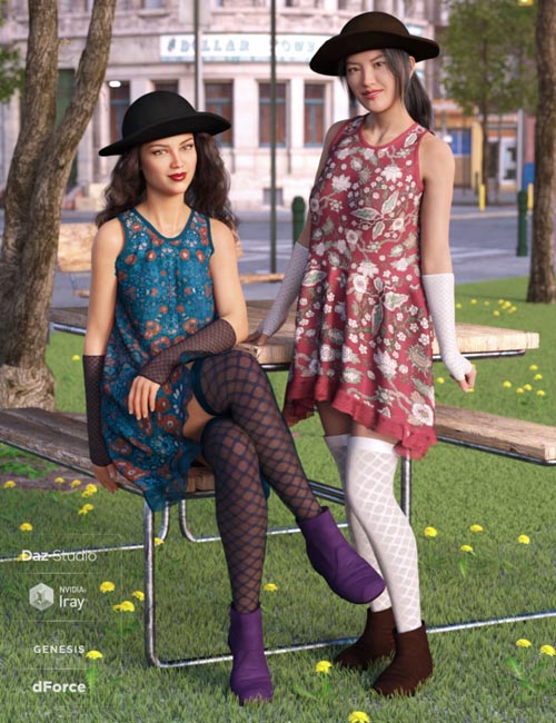 dForce Boho Days Outfit Textures